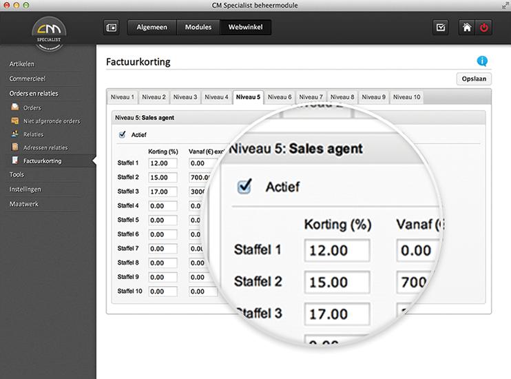 B2B webshop offerte module voor