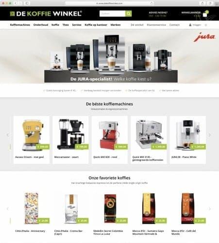 De koffie winkel