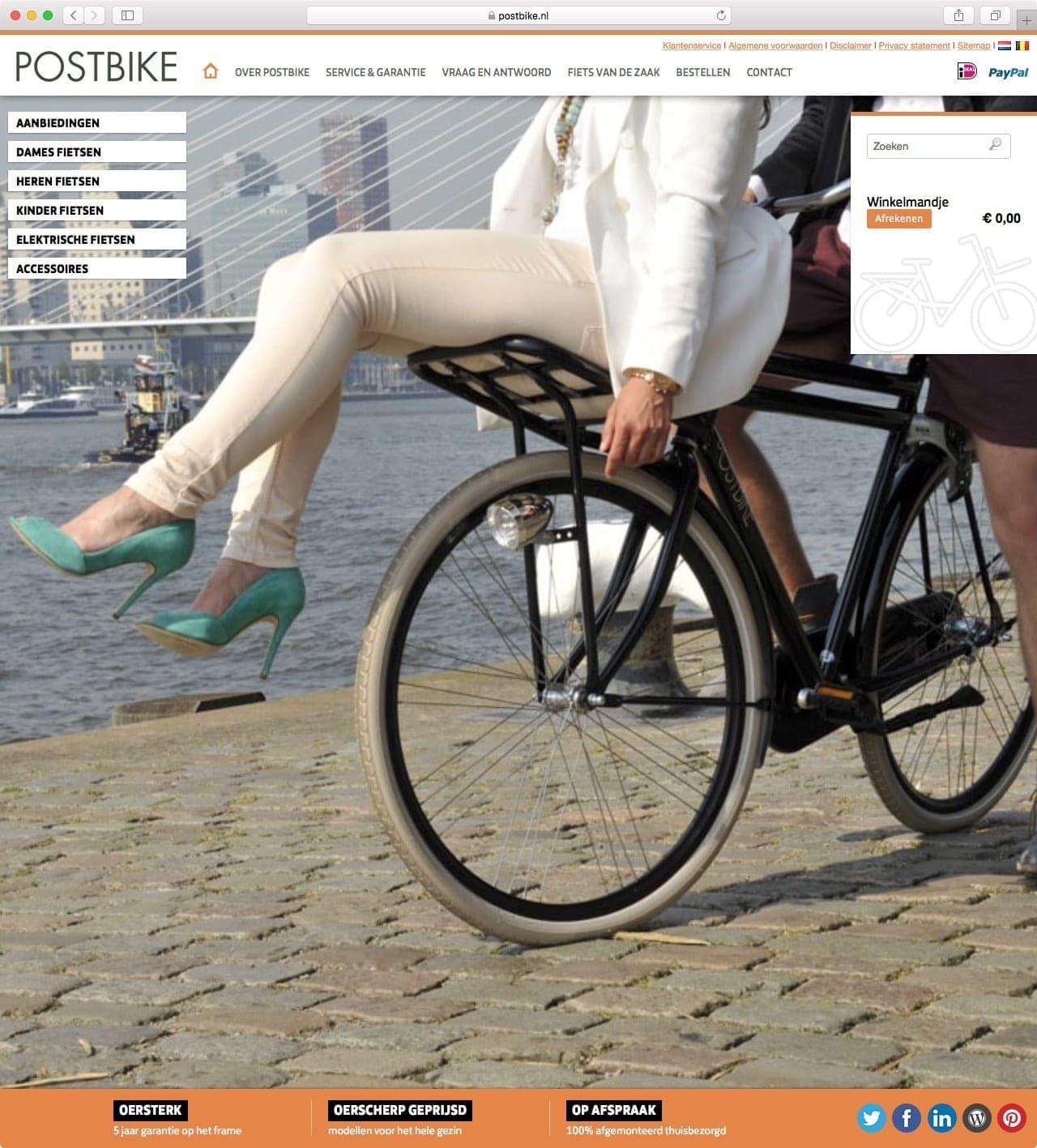 Postbike fietsen