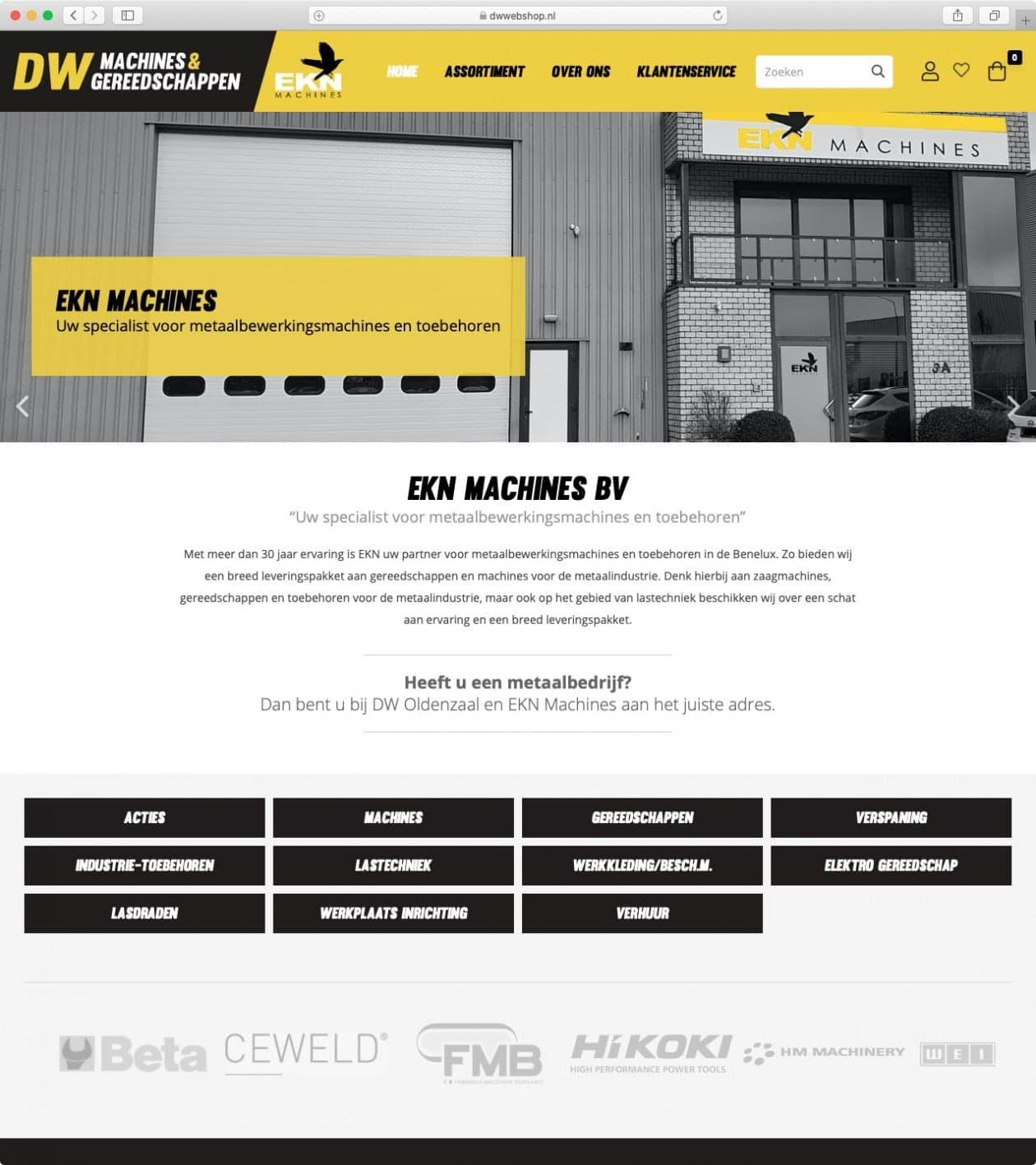 DW Machines & Gereedschappen