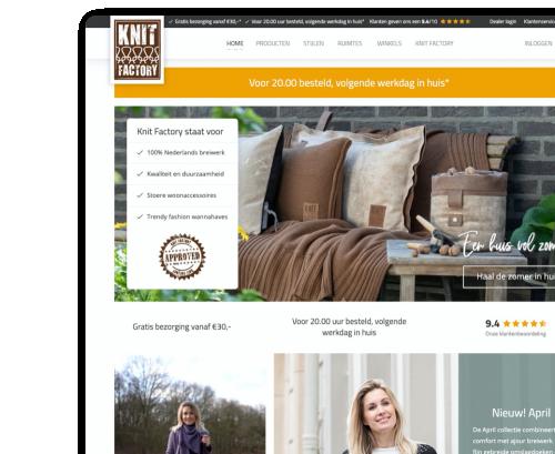 Knit Factory - B2C en B2B Webshop