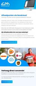 Servicepunten: Sendcloud en MyParcel