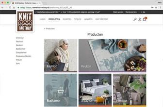 De nieuwe website van knitfactory gelanceerd